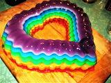 #Heart Rainbow Jello Mold