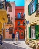 Narrow streets of Chania