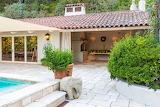 Pool Garden Fireplace House