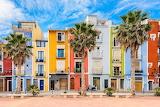 Villajoyosa seafront houses