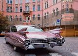 Pink Cadillac Fleetwood Car Auto Vehicle
