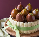 Caramel pear charlotte