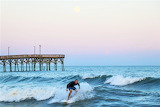 Early morning surfing Surf City North Carolina