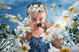 Girl-Daffodils-Little Camera