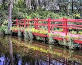 Red walking bridge South Carolina