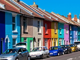 Rainbow houses Portsmouth