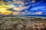 Sunrise and Clouds Over City of Orange Beach