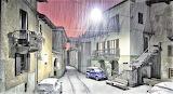 Nevicata a Montestrutto-Italia