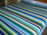 Crochette blanket stripe