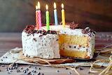 Birthday cake with chocolate and mascarpone