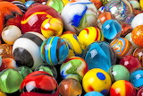 Glass marbles of all colors