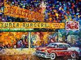 ^ Burger Joint ~ Leonid Afremov