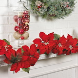 ^ Christmas poinsettia garland