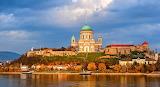 Hungary Esztergom Houses Temples