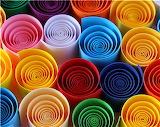 Colorful Paper Spirals