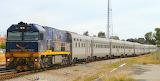 Locomotive NR27 hauling Indian Pacific train