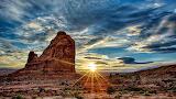 Sunrise over Arches National Park, Moab, Utah