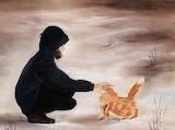 Anastasiya Malakhova, Girl and a cat, 2011
