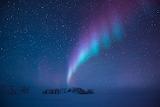 Aurora Australis over Concordia Station, Antarctica