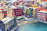 Colorful buildings Italy