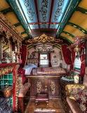 Interior Horse-drawn Romany Caravan