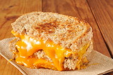 ^ Extra Cheesy Grilled Cheese Sandwich