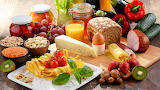 Pasta-fruit-vegetable-cheese-nut-bread-meat