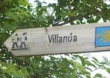 Villanua Road Sign