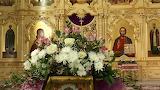 Flowers, Jesus, Church, Temple, icons, Virgin Mary, Siberia