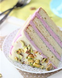 Blueberry pistachio cake