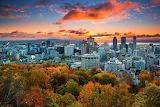 Skyline Montreal sunset