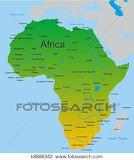 Mapa-de-africano-continente-clipart k8886342