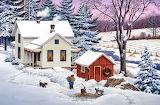 North Country Christmas~ John Sloane HD wp 1366x900-