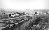 Railway yard Ourimbah circa 1909 CCLS Collection