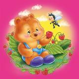 Bear in raspberries
