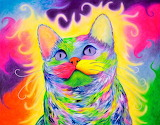 Rainbow Kitty by Krystle Cole
