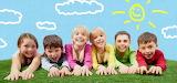 Children, kids, boy, girl, cloud, sun, sky