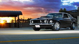 Ford-mustang-at-sunset