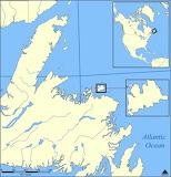 Fogo Island, Canada - map
