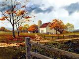 Autumn Farm Painting~ MHumphries wallpaper