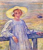 Theo Van Rysselberghe, Elisaeth in a Straw Hat, 1901