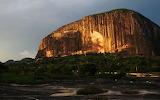 Zuma rock nigeria at night