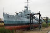 USS KIDD in Cradle