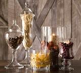 Décoration en verre-aliments