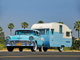 1956 Chevrolet Bel Air Nomad and caravan