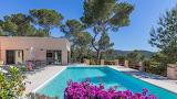 Pretty mountain view villa and pool in Ibiza