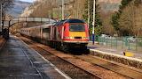 Virgin Trains HST The Higland Chieftain pulls into Dunkeld & Bir