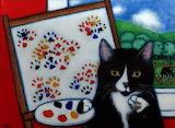 Charlie painting big paws - Heidi Shaulis