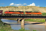 BNSF Railway over Little Missouri River at Medora North Dakota