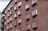 Apartment building garden style windows Stockholm Sweden